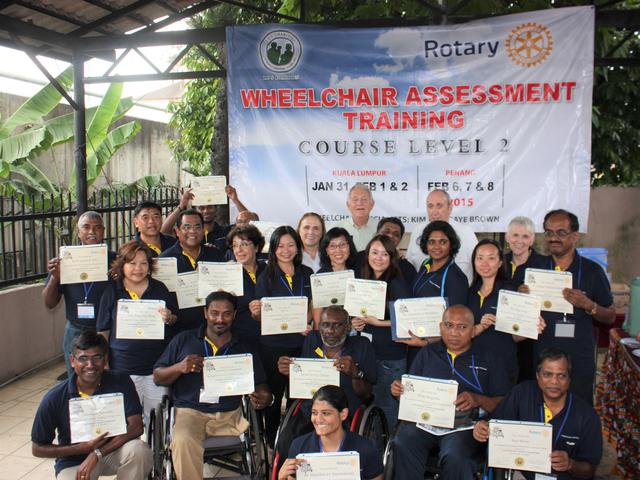 Assessors trained to fit the wheelchairs